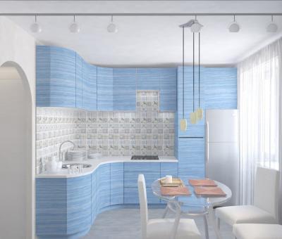 Кухня голубого цвета (lesh, г. Санкт-Петербург) 1