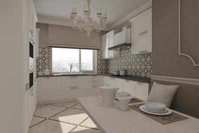 Кухня с П-образной планировкой (artvita, г. Санкт-Петербург) 1