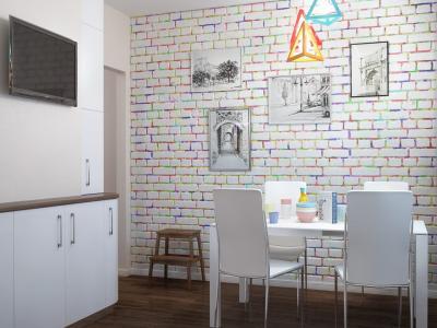 Кухня 10 кв.м в стиле фьюжн (Instilier, г. Москва) 3