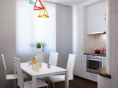 Кухня 10 кв.м в стиле фьюжн (Instilier, г. Москва) 5