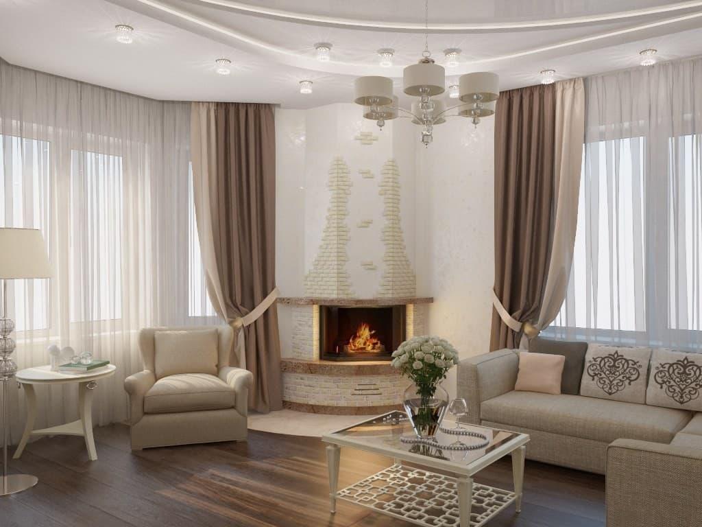 Интерьер частного дома в классическом стиле