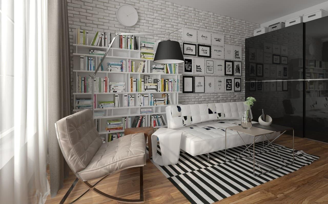 1-комнатная квартира в скандинавском стиле