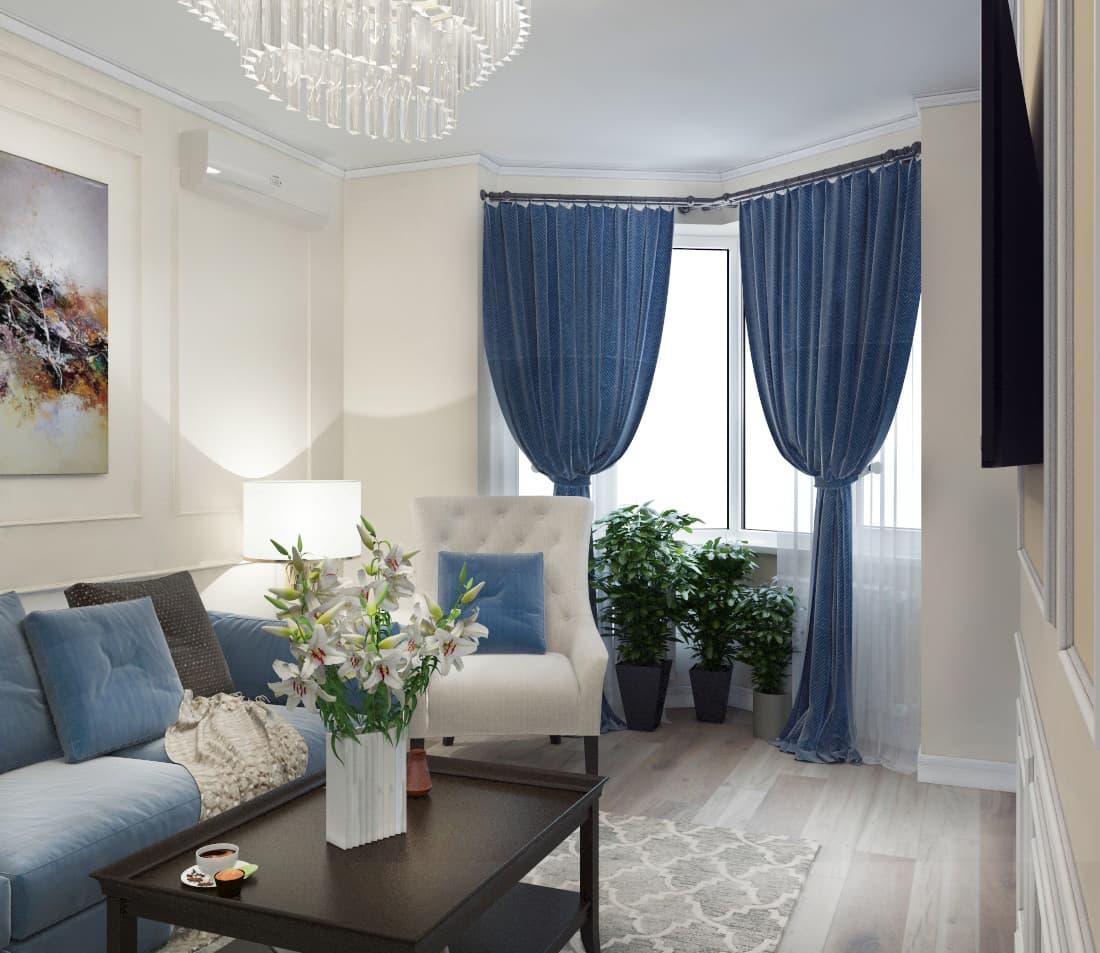 Проект 3-х комнатной квартиры в традиционном стиле