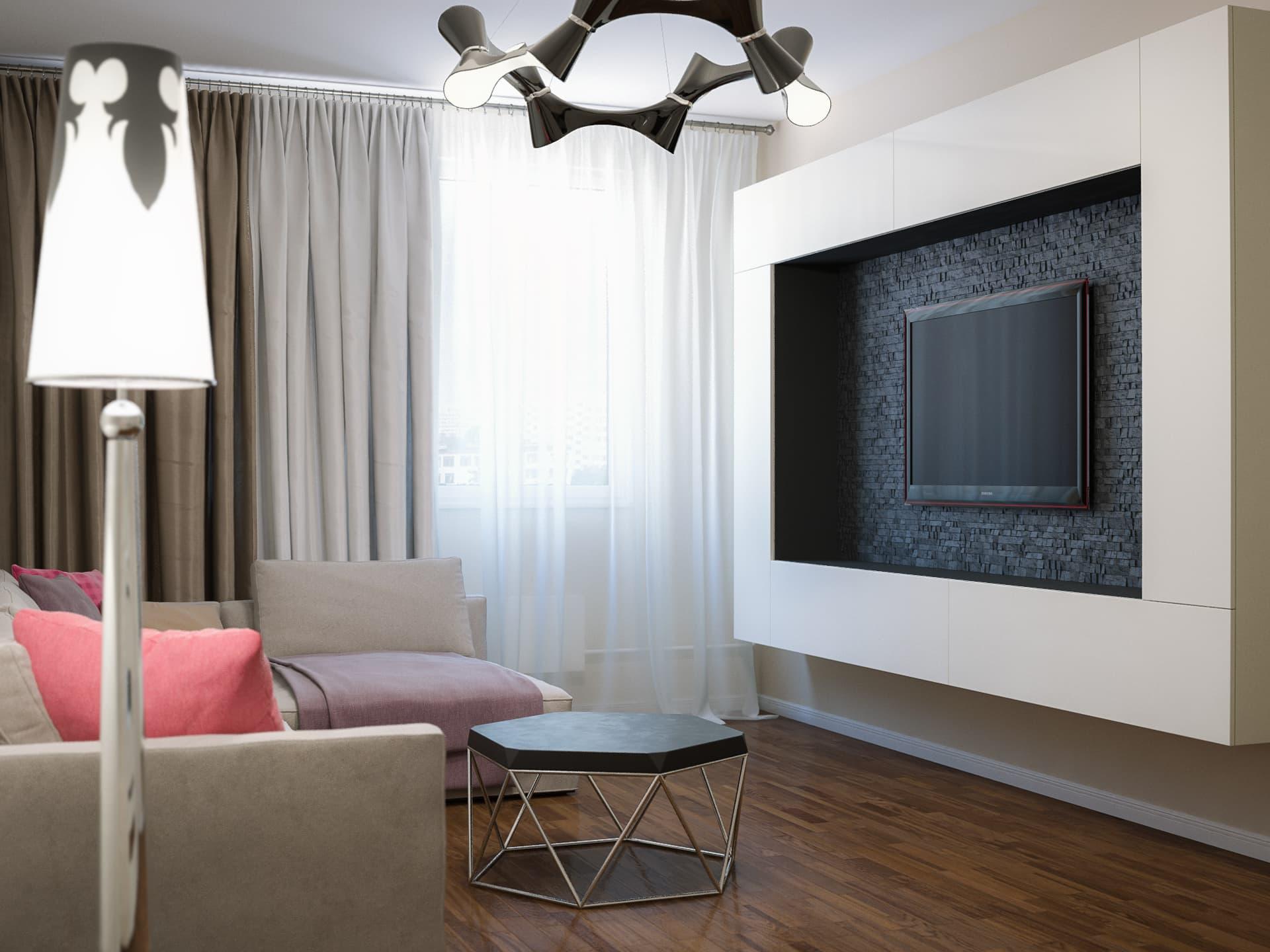 Дизайн 3-комнатной квартиры в стиле фьюжн