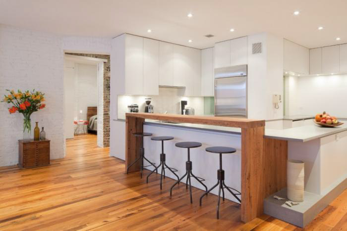 Фото угловой барной стойки для кухни